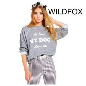 🦊NEW Wildfox My Dog Loves Me Sommers Sweater🦊
